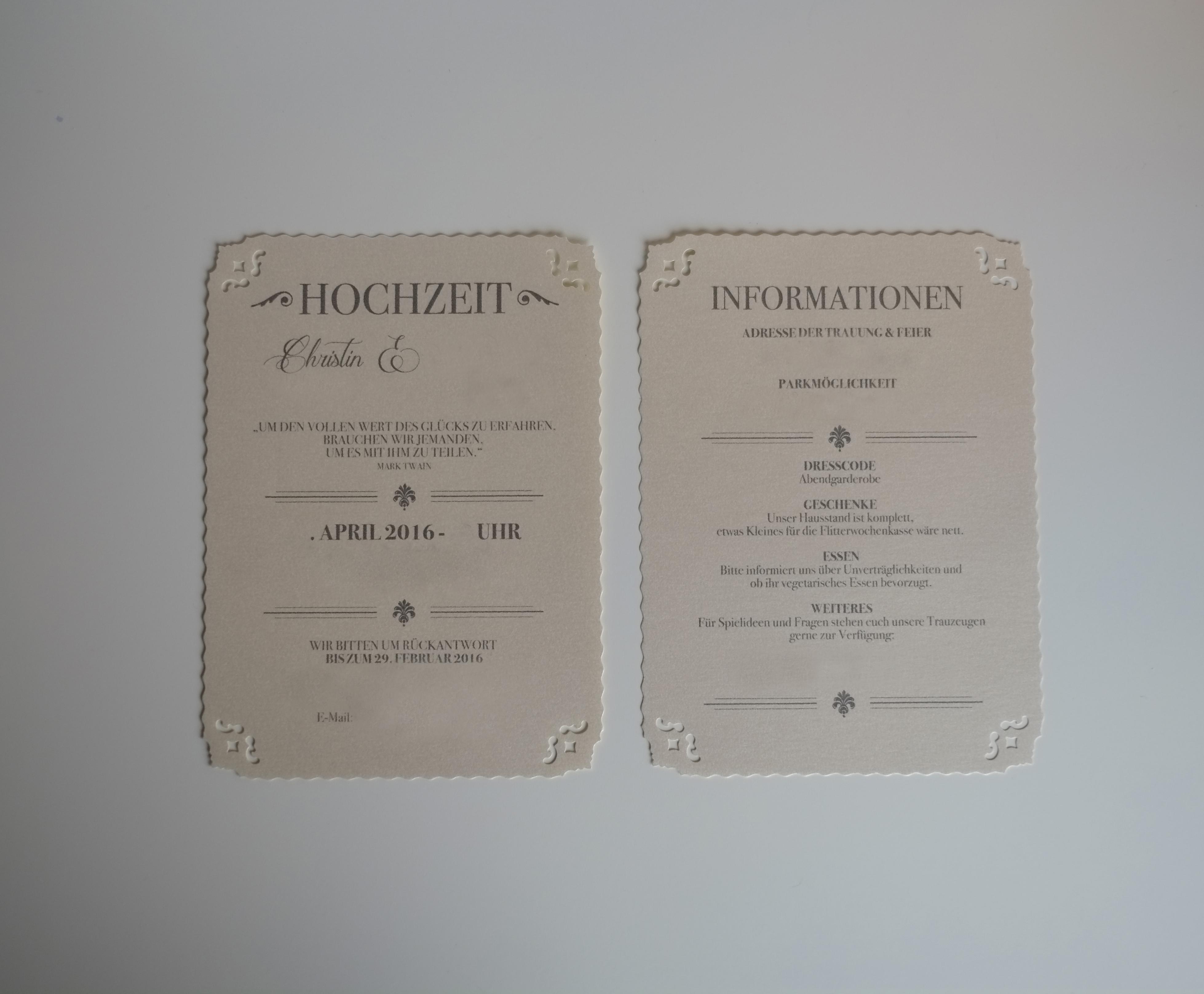 Hochzeit Einladung Vintage Vorlagen