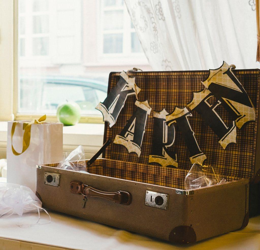 Hochzeit Koffer für Karten