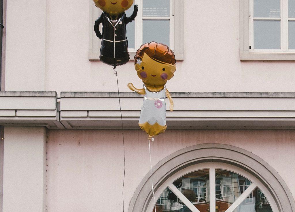 Brautpaar Helium Ballon