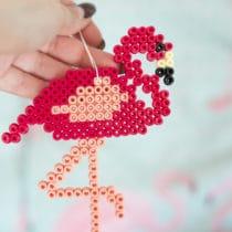DIY Bügelperlen Flamingo