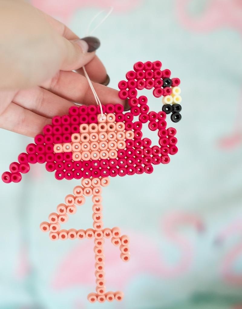 Bügelperlen Flamingo