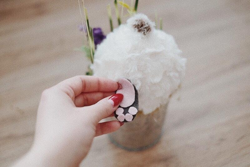 DIY Osterhase im Blumentopf