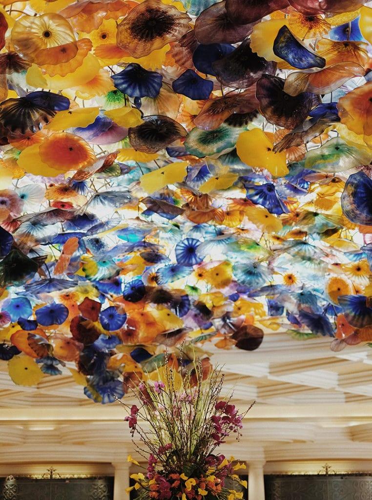 Glasblumen in der Empfangshalle des Bellagio Hotels