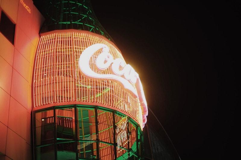 Coca Cola Flasche in Las Vegas