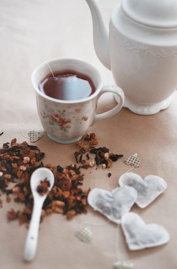 DIY Herz Teebeutel